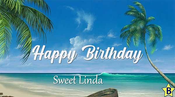 happy birthday linda images beach