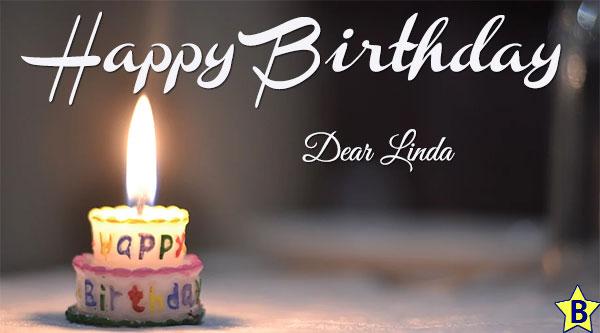happy birthday linda images candle