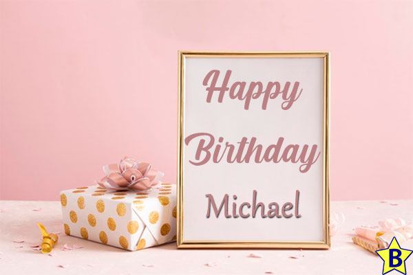 happy birthday michelle images frame