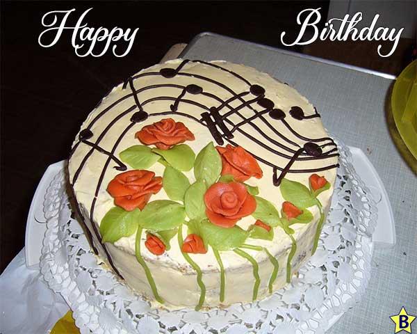 happy birthday music cake images