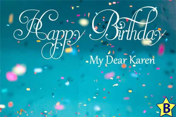 happy birthday my dear karen images