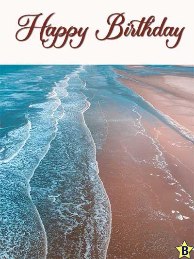 ocean beach happy birthday images