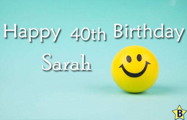 Happy 4oth Birthday Sarah Images