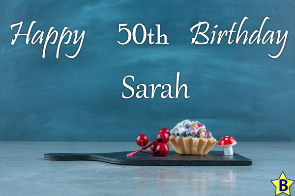 Happy 50th Birthday Sarah Images