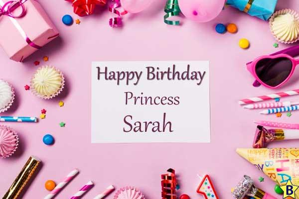 Happy Birthday Sarah Images princess