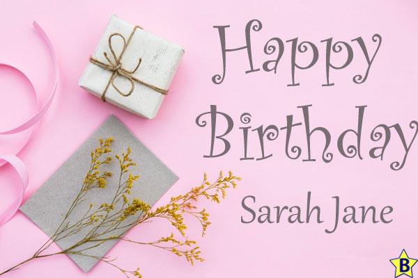 Happy Birthday Sarah jane Images