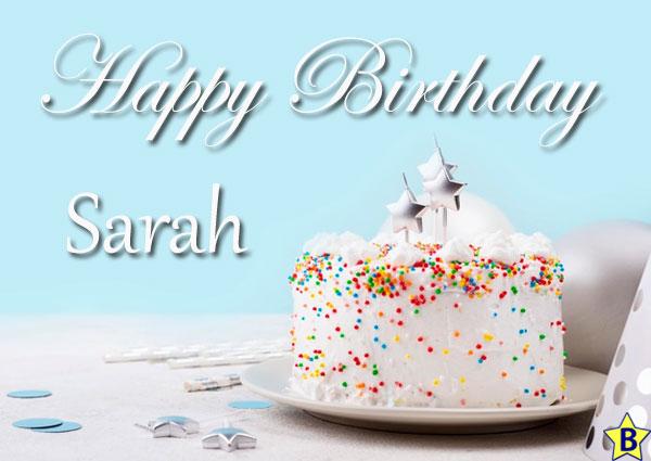 cake Happy Birthday Sarah Images