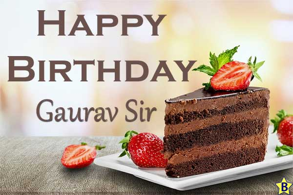 happy birthday images gaurav sir