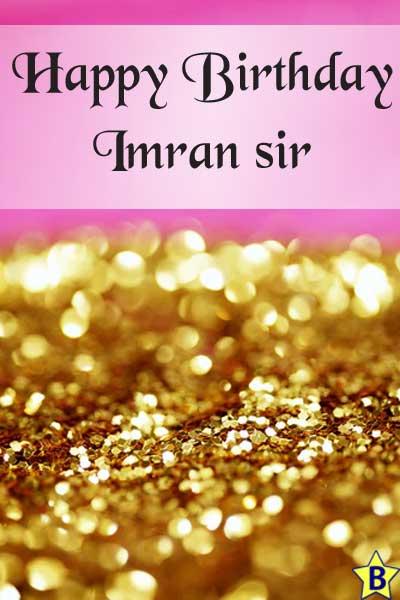 happy birthday images imran-sir