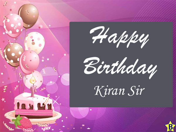 happy birthday images kiran-sir