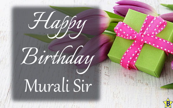 happy birthday images murali-sir