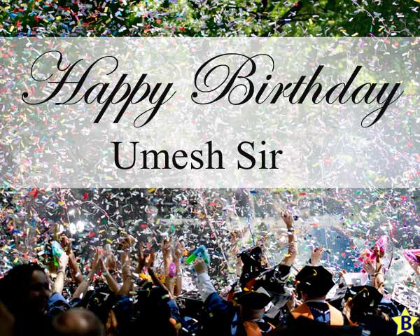 happy birthday images umesh-sir