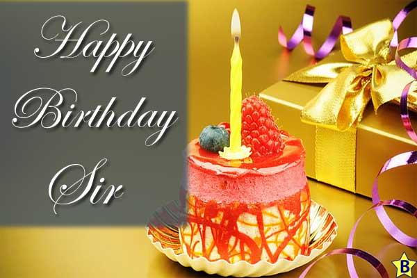 happy birthday sir images cake