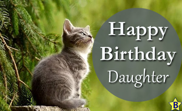 Happy Birthday Images daughter with cat