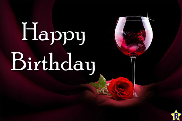 Happy Birthday Images flower-and-wine