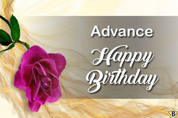 advance happy birthday image