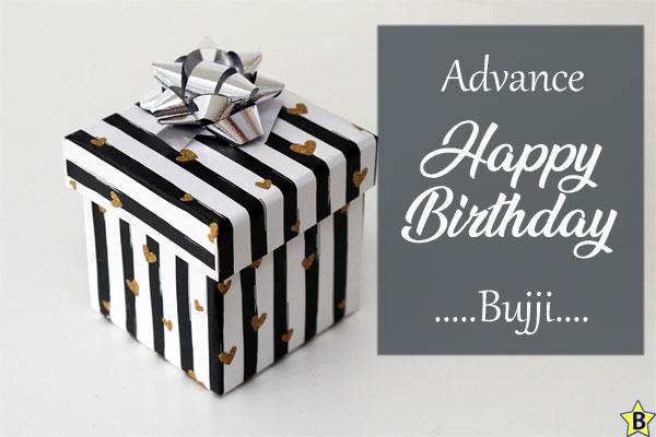 advance happy birthday images bujji