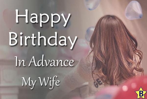 advance happy birthday images my-wife
