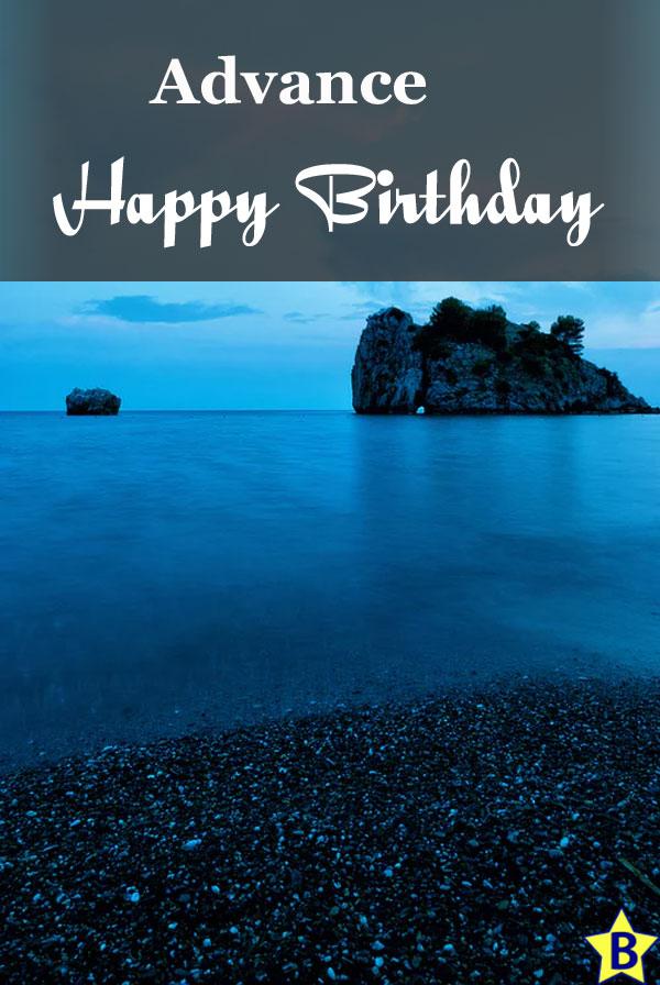 advance happy birthday images nature