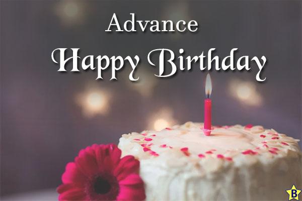 advance happy birthday photos