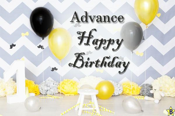 advance happy birthday pictures