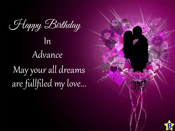 advance happy birthday wishes-for-lover