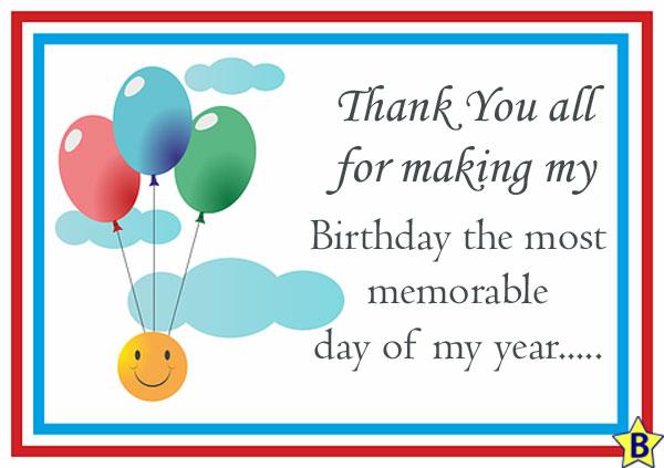 happy birthday thanks message