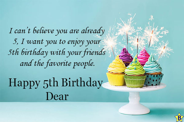 5th Birthday Quotes for Daughter from Parents