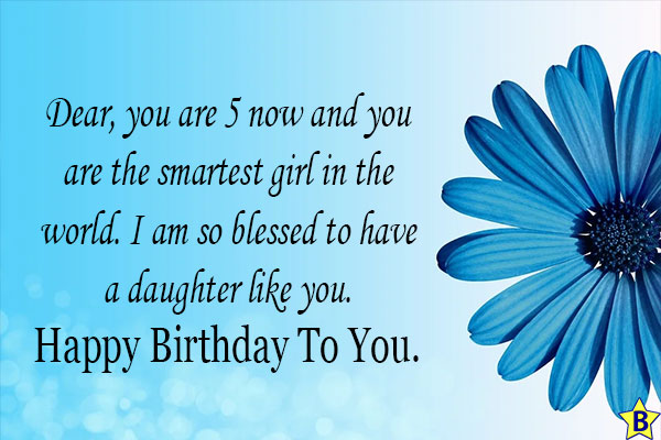 5th birthday wishes for daughter from mom
