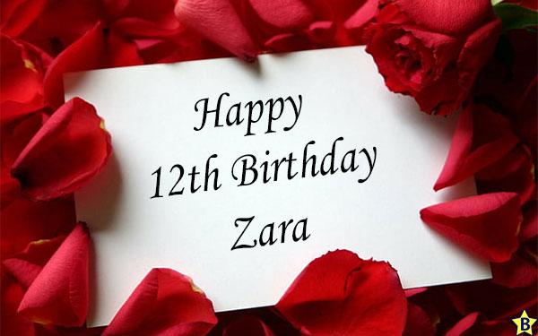 Happy 12th birthday zara