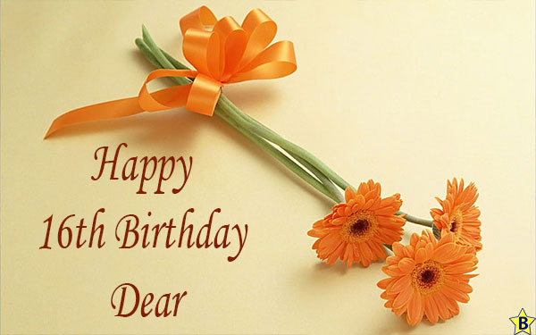 Happy 16th birthday dear Images