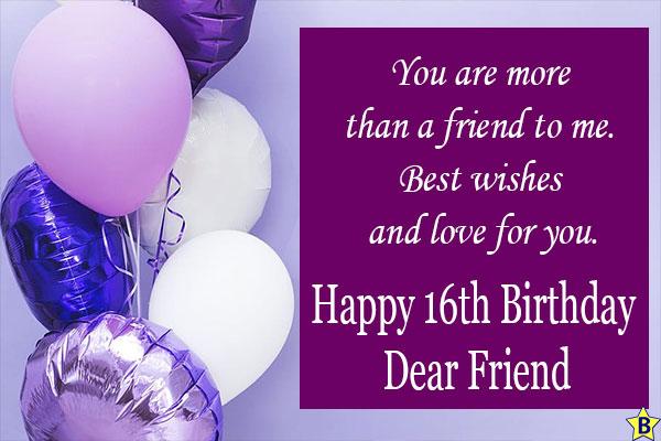 Happy 16th birthday friend