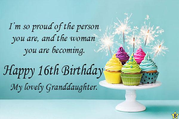 Happy 16th birthday granddaughter