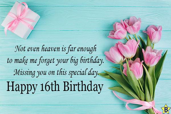 Happy 16th birthday in hevean