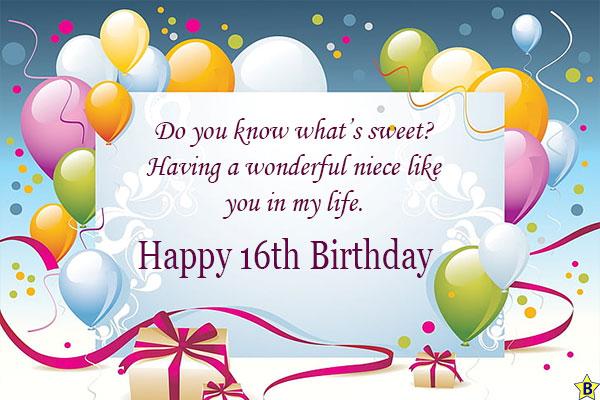 Happy 16th birthday niece