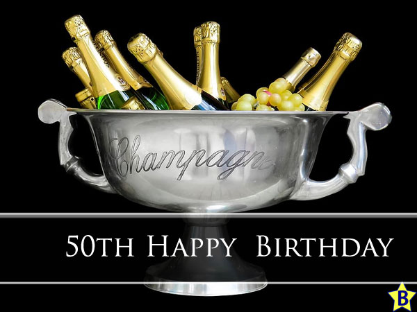 Happy 50th Birthday Images champagne