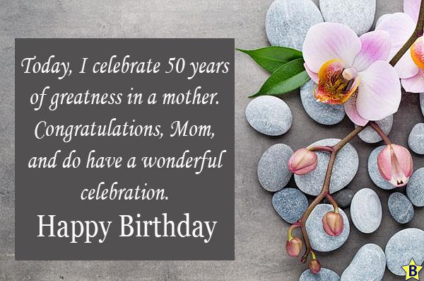 Happy 50th Birthday, Mom