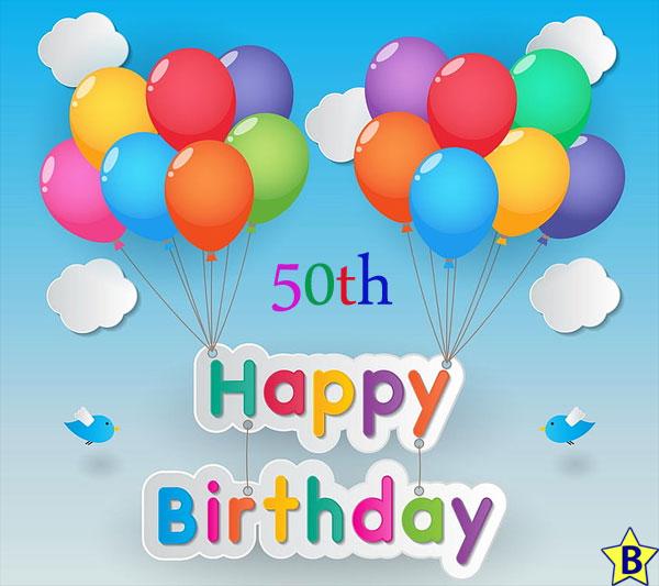 Happy 50th Birthday balloons