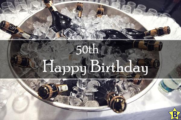 Happy 50th Birthday beer