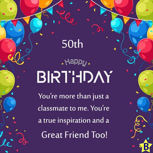 Happy 50th Birthday best-friend