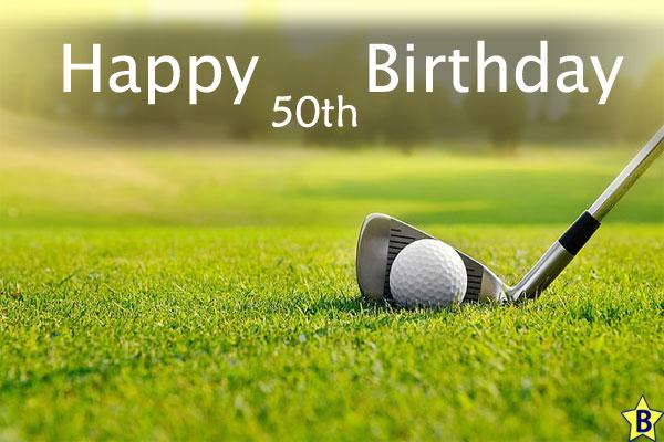 Happy 50th Birthday images golf