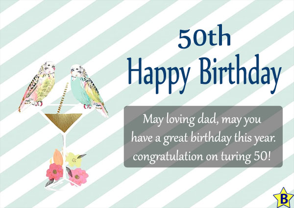Happy 50th Birthday wishes for-dad