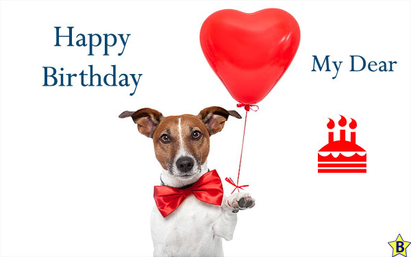 Happy Birthday Dog Images my dear