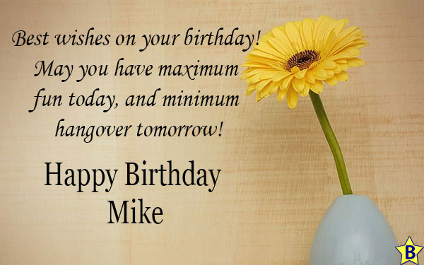 Happy Birthday Mike Images