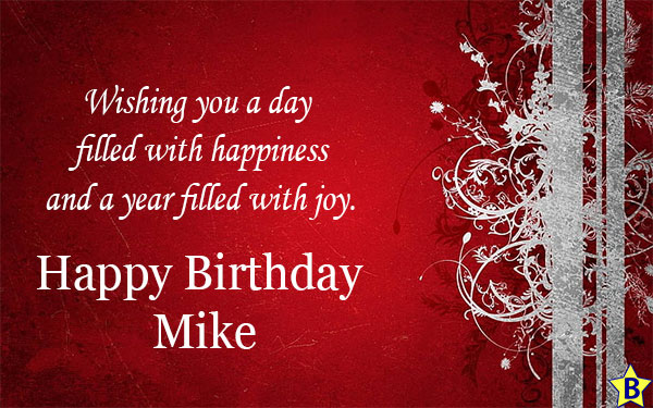 Happy Birthday Mike messages