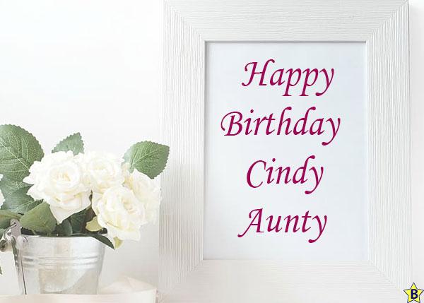 Happy Birthday cindy-aunty Images