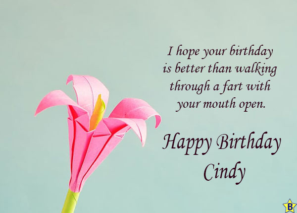 Happy Birthday cindy funny images