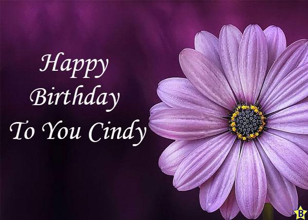 Happy birthday cindy pic or Whatsapp