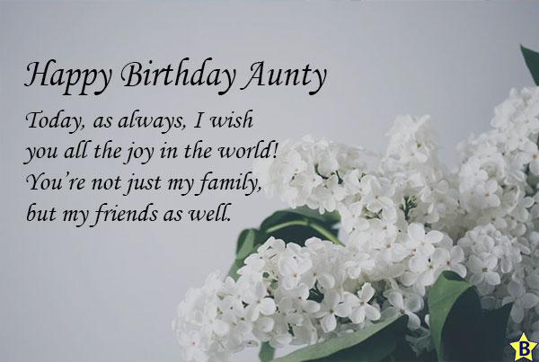 Happy birthday massage for aunty
