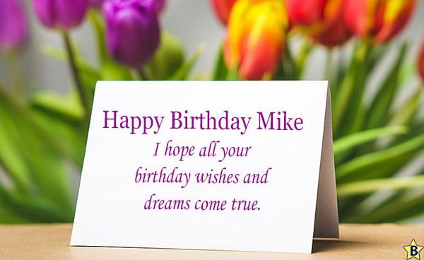 Happy birthday mike Card